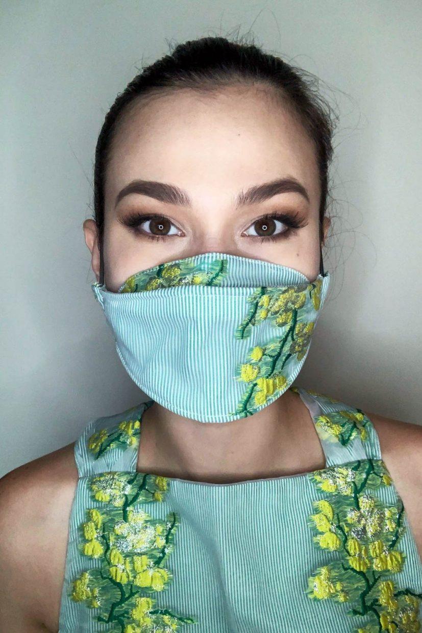 Organza Mask - Kiwi Lime