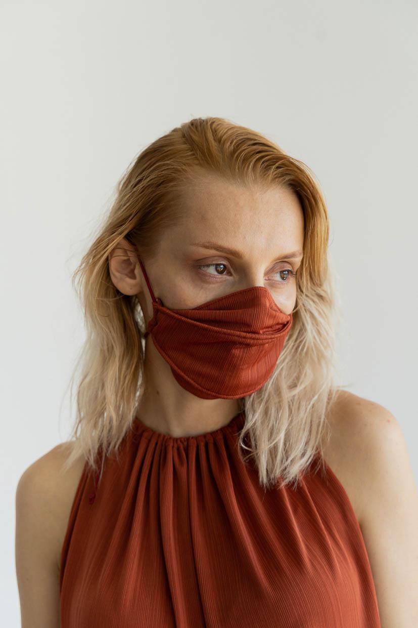 Mini Pleats Almond Face Mask